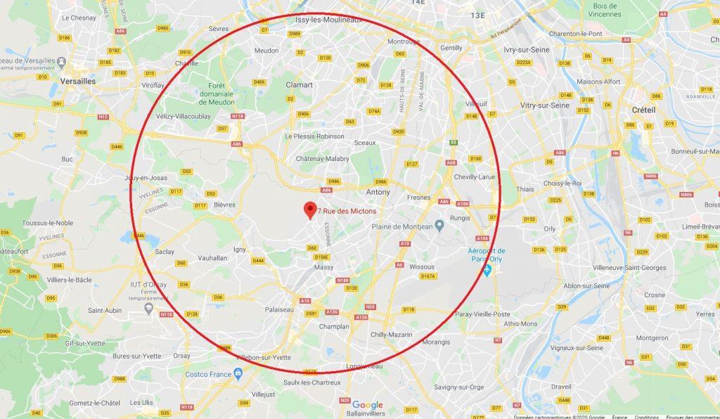 Zone d'intervention - LAMAIN SERVICES - Plombier